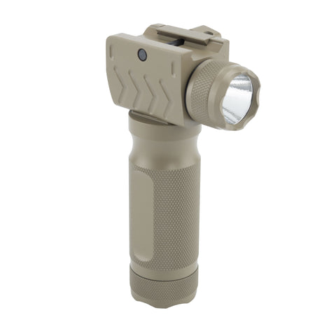 Vertical Fore Grip/Flashlight Combo for Rifles/Shotguns/AR-15's | Flat Dark Earth - Accessories - Monstrum Tactical - 1