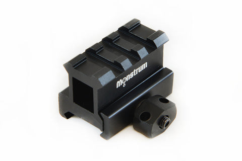 High Profile Picatinny Riser Mount for Red Dots and Optics - Accessories - Monstrum Tactical - 1