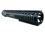 LR-308 Keymod Rail Handguard - 15 inch | Free Float | Black - Quad Rails - Monstrum Tactical - 3
