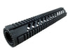 LR-308 Quad Rail Handguard - 12 inch | Free Float | Black - Quad Rails - Monstrum Tactical - 1