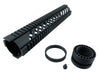 LR-308 Quad Rail Handguard - 12 inch | Free Float | Black - Quad Rails - Monstrum Tactical - 3