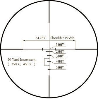 3-9x32 Rifle Scope - Rangefinder Reticle and Offset Reversible Scope Rings - Rifle Scopes - Monstrum Tactical - 7