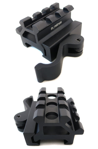 Dual Rail 45/90 Degree Picatinny Riser Mount Red Dots and Sights - Accessories - Monstrum Tactical - 1
