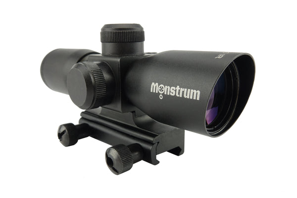 4x30 Compact Tactical Rifle Scope - Range Finder Reticle