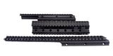 Saiga 12/20 Gauge Shotgun Quad Rail - Black - Quad Rails - Monstrum Tactical - 1