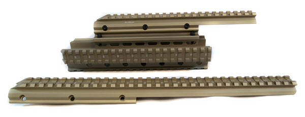 Saiga 12/20 Gauge Shotgun Quad Rail - Flat Dark Earth - Quad Rails - Monstrum Tactical - 1