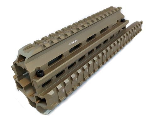 Saiga 7.62/5.45/.223 Rifle Quad Rail - Flat Dark Earth - Quad Rails - Monstrum Tactical - 1