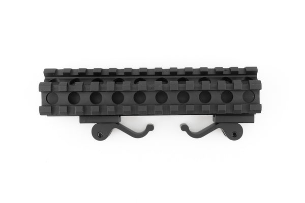 Dual Rail 45/90 Degree Picatinny Scope Riser Mount with Quick Release - Accessories - Monstrum Tactical - 2