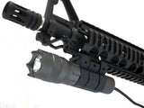 200 Lumens Tactical Flashlight with Strobe, Remote Switch, and Rail Mount - Optics - Monstrum Tactical - 2