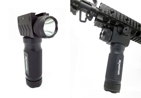 Vertical Fore Grip/Flashlight Combo for Rifles/Shotguns/AR-15's | Black - Accessories - Monstrum Tactical - 1