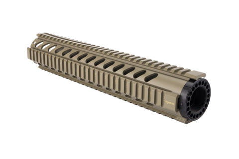 AR-15 Quad Rail Handguard - 12 inch | Free Float | Flat Dark Earth - Quad Rails - Monstrum Tactical - 1