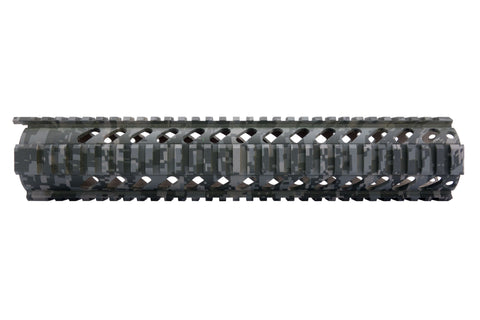 AR-15 Quad Rail Handguard - 12 inch | Free Float | Foliage Digital Camo - Quad Rails - Monstrum Tactical