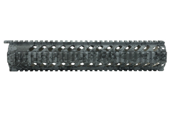 AR-15 Quad Rail Handguard - 12 inch | Free Float | Grey Digital Camo - Quad Rails - Monstrum Tactical