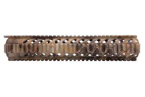 AR-15 Quad Rail Handguard - 12 inch | Free Float | Kryptek Banshee Camo - Quad Rails - Monstrum Tactical