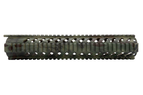AR-15 Quad Rail Handguard - 12 inch | Free Float | Kryptek Mandrake Camo - Quad Rails - Monstrum Tactical