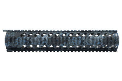 AR-15 Quad Rail Handguard - 12 inch | Free Float | Kryptek Neptune Camo - Quad Rails - Monstrum Tactical - 1