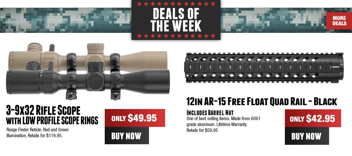 2-7x scope, headlamp and more on sale!