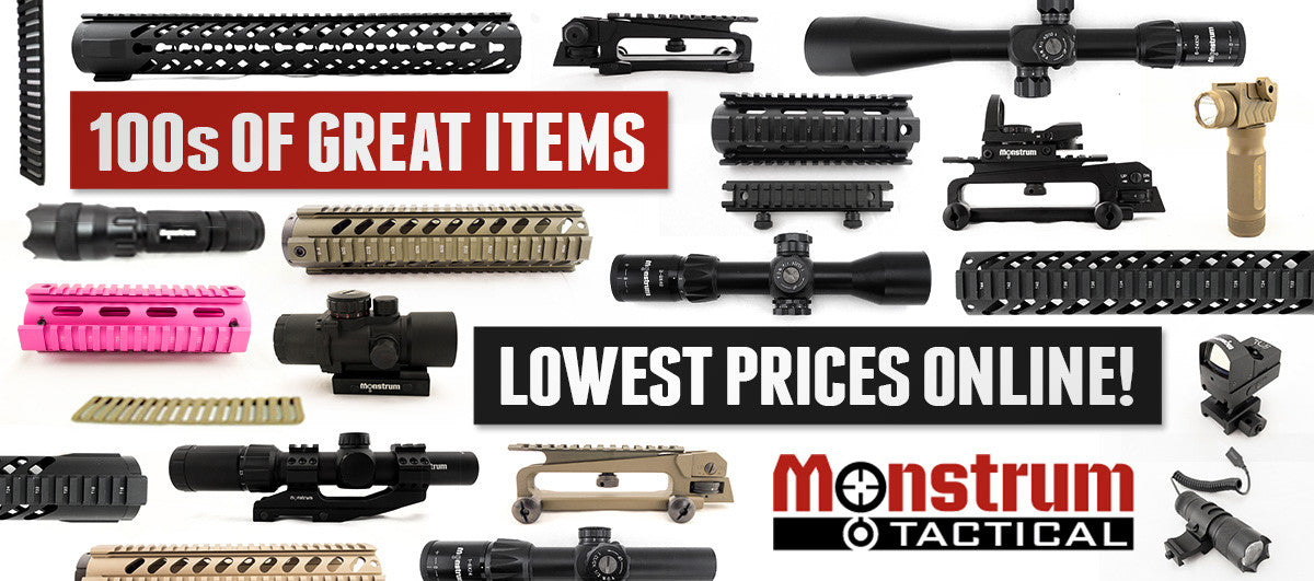 monstrum tactical, lowest prices for AR-15, lr-308, and shotgun accessories