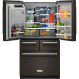 KitchenAid 5 Door Fridge - Black Stainless