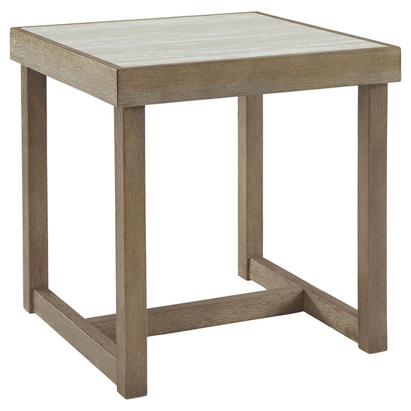 Challene End Table - Light Gray