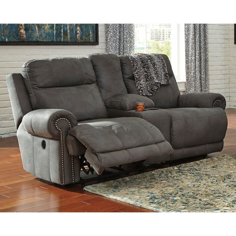 Austere Power Reclining Loveseat w/Console - Grey