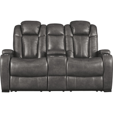 Turbulance Power Reclining Loveseat With Power Headrest - Quarry