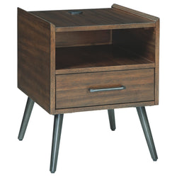 Calmoni End Table - Brown