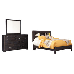 Reylow 5 Piece Bedroom Package - Dark Brown