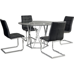 Madanere 5 Piece Casual Dining - Black