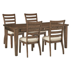 Baymore  5 Piece Dining Room - Medium Brown