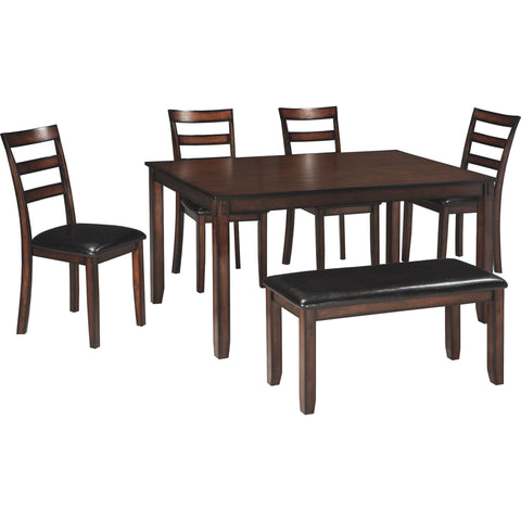 Coviar 6 Piece Casual Dining - Brown