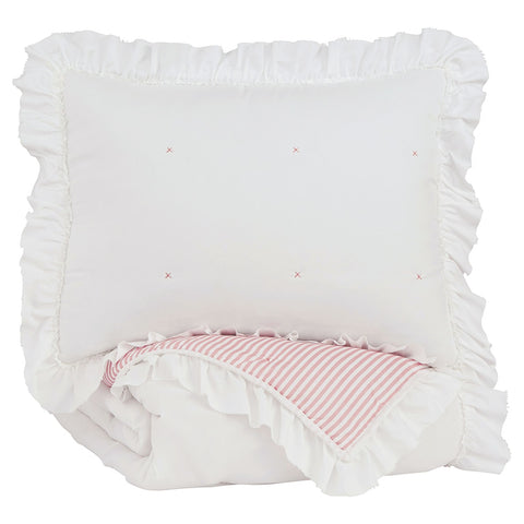 Jenalyn Twin Comforter Set - Pink