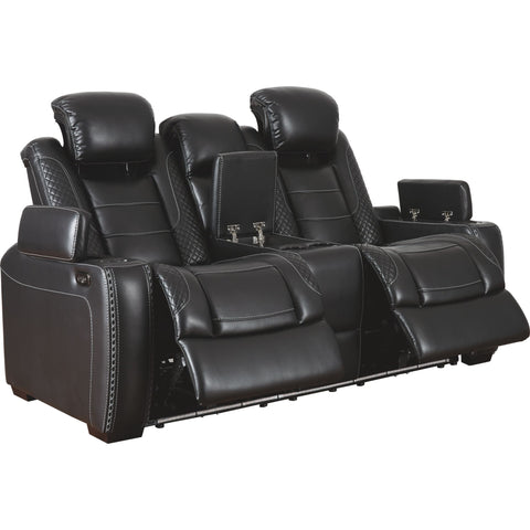 Party Time Power Reclining Loveseat - Midnight