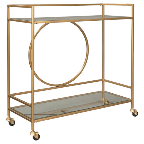 Jackford Bar Unit - Antique Gold Finish