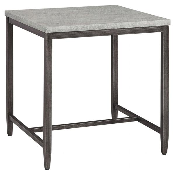 Columnar End Table - Light Gray
