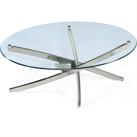 Zila Coffee Table - Brushed Nickel