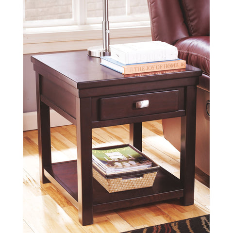 Hatsuko End Table - Dark Brown