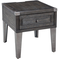 Todoe End Table - Dark Grey
