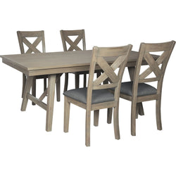 Bennox  5 Piece Formal Dining - Grey