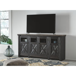 Tyler Creek Extra Large TV Stand - Black/Gray