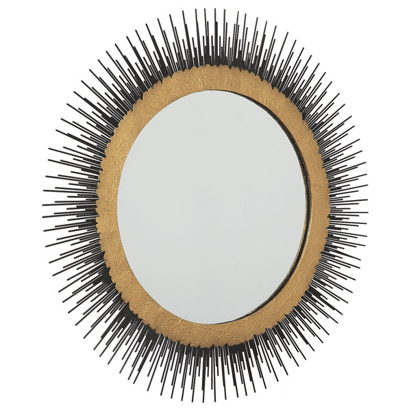 Elodie Mirror - Black/Gold Finish