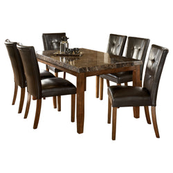 Lacey 7 Piece Dining Room - Medium Brown
