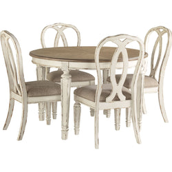 Realyn 5 Piece Formal Dining - Chipped White