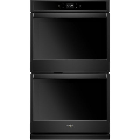 "Whirlpool 27"" Double Wall Oven - Black"