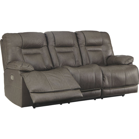 Wurstrow Power Reclining Sofa With Power Headrest - Smoke