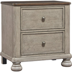 Falkhurst Nightstand - Gray/Brown