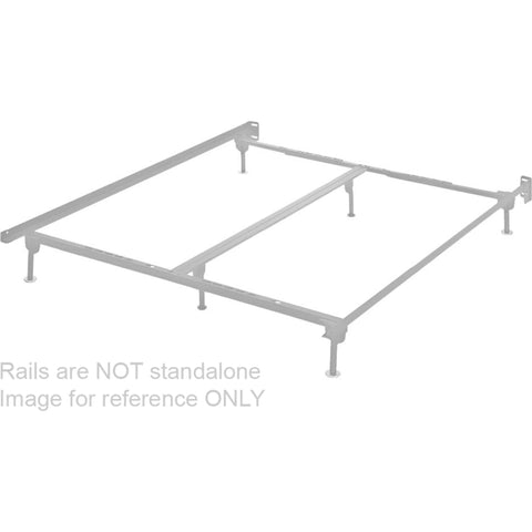 Summer Hill Queen Panel Rails - Silver Finish
