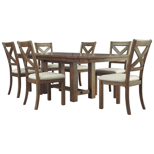 Moriville 7 Piece Dining Room - Grayish Brown