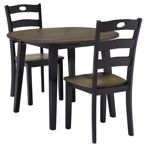 Lorimer 3 Piece Dinette - Grayish Brown/Black