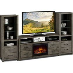 Stockton 4 Piece Entertainment Unit - Slate